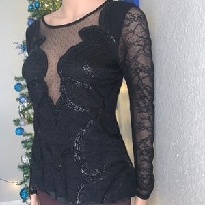 50% OFF Vintage Lace Beaded Top